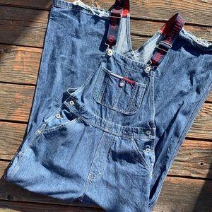 Tommy Hilfiger flare bottom overalls